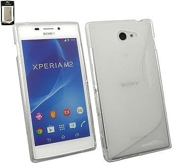 Emartbuy® Sony Xperia M2 Ultrafina a Presión TPU Gel Funda Carcasa Case Cover Claro