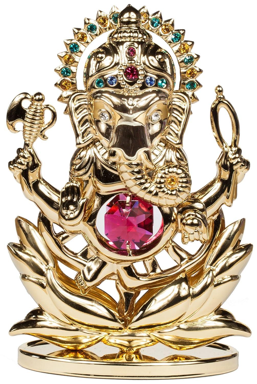 Rieser Interieur Ganesha Statue Figur 24k goldüberzogen MADE WITH SWAROVSKI ELEMENTS