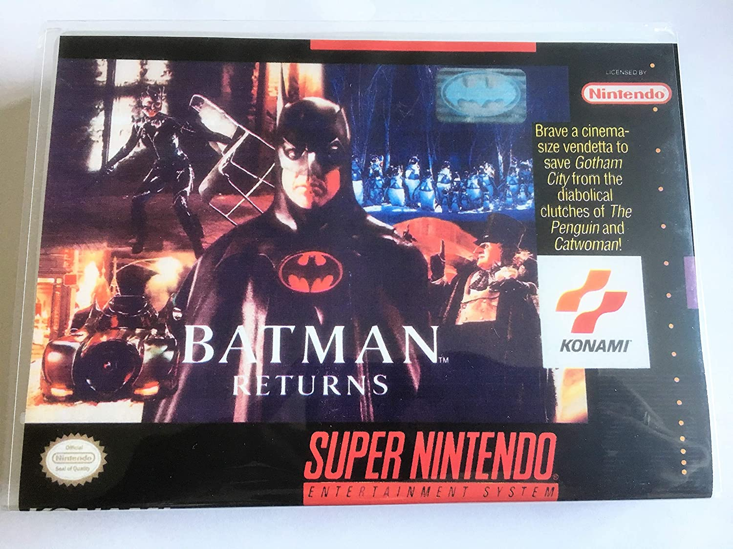Amazon Com Batman Returns Super Nintendo Snes Reproduction Video Game Cartridge With Universal Game Case And Glossy Manual Video Games