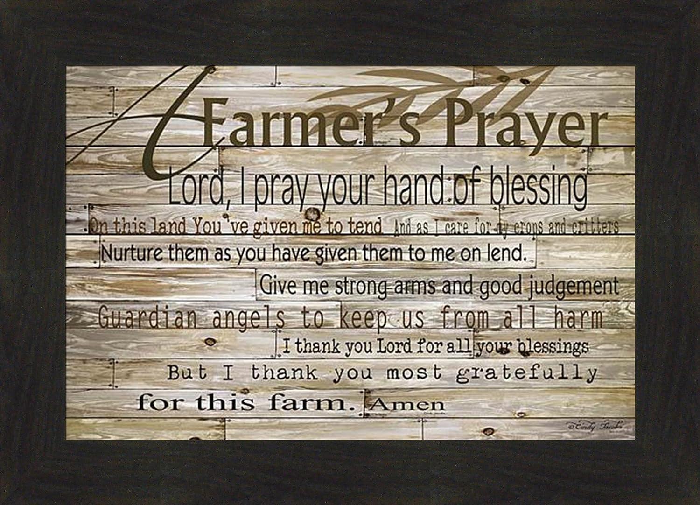 "Ready to Hang Framed Print Frame /""Farmers Prayer/"" by Cindy Jacobs"