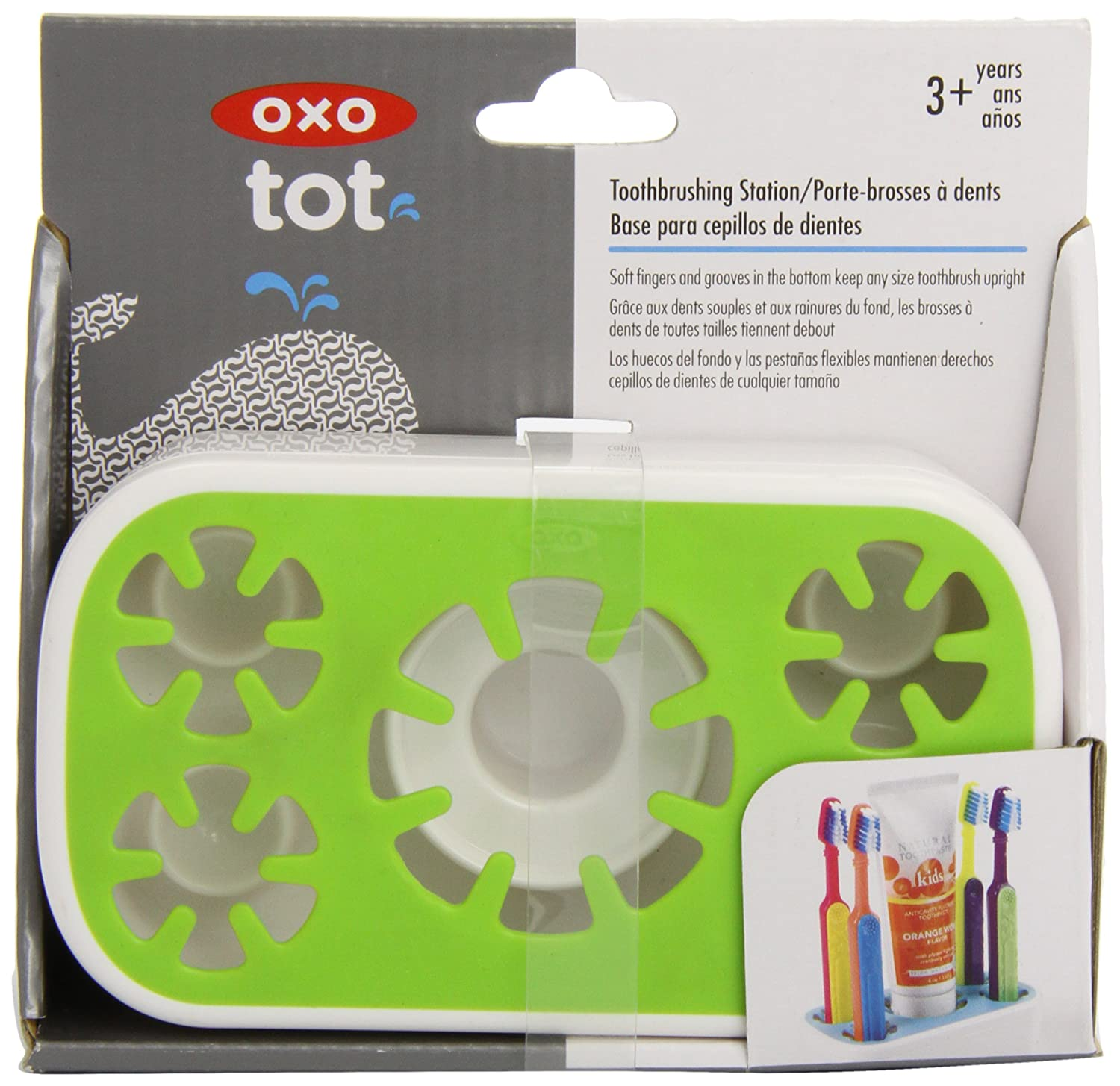 Amazon.com: OXO Tot Toothbrushing Station, Green (Discontinued by Manufacturer): Baby