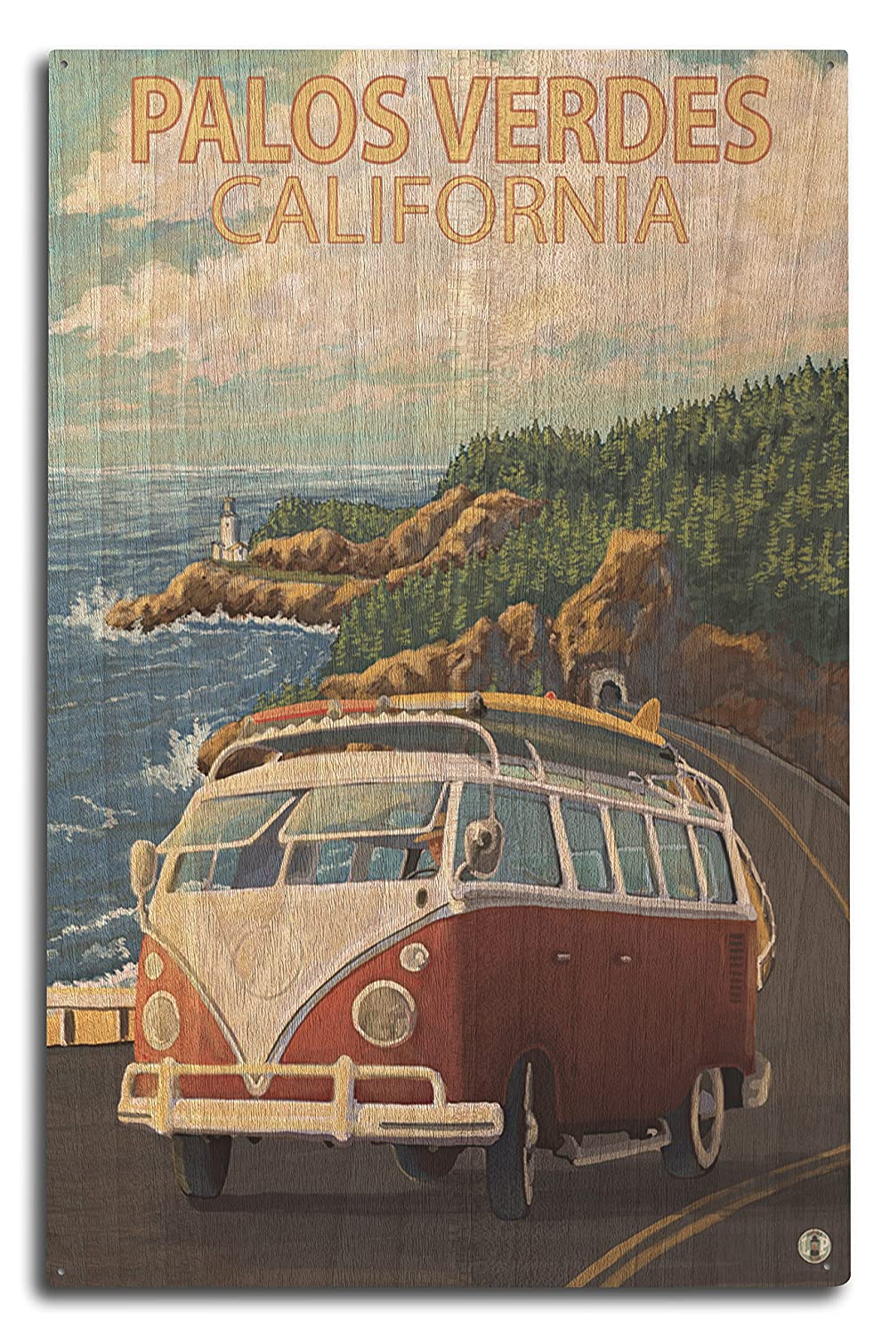 新規購入 Palos 10 Verdes、カリフォルニア – Sign VW Van 9 Sign x 12 Art Print LANT-46350-9x12 B07367KHFJ 10 x 15 Wood Sign 10 x 15 Wood Sign, 礼服レンタルの相羽:595c05d1 --- granjalailusion.com.ar