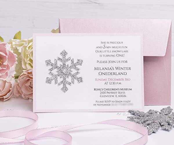Amazon Com Winter Wonderland Invitations With Envelopes