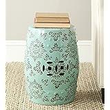 Safavieh Medallion Ceramic Decorative Garden Stool, Light Blue