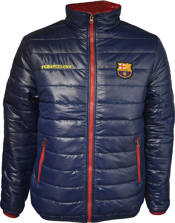 Chaqueta acolchada del Barça para hombre - Colección oficial FC Barcelona - Talla adulto, Hombre, azul marino, S: Amazon.es: Deportes y aire libre