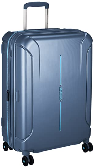 American Tourister Technum Spinner 6825 Tsa Exp Metallic Blue: Amazon.es: Equipaje