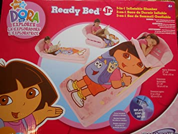 Amazon.com : Ready Bed - Dora the Explorer - 3-in-1 Inflatable Slumber : Slumber Bags : Baby