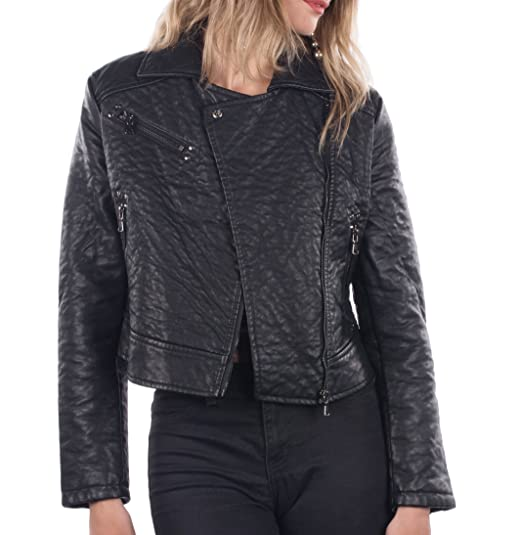 Philomena Petti Ladies Faux Leather Motorcycle Jacket Womens Pu