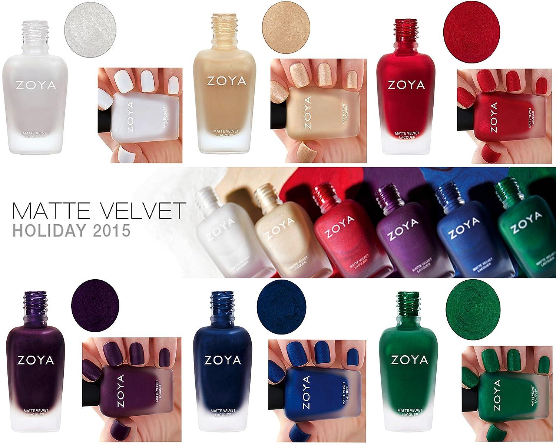 Amazon.com: Zoya Matte Nail Polish Velvet Limit Edition (Honor ...