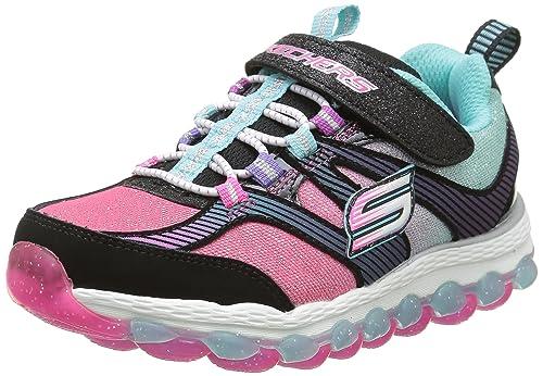 online retailer 0aab5 e5312 Skechers Kids Girls  Skech Air Ultra Sneaker, Black Multi, 1 M US