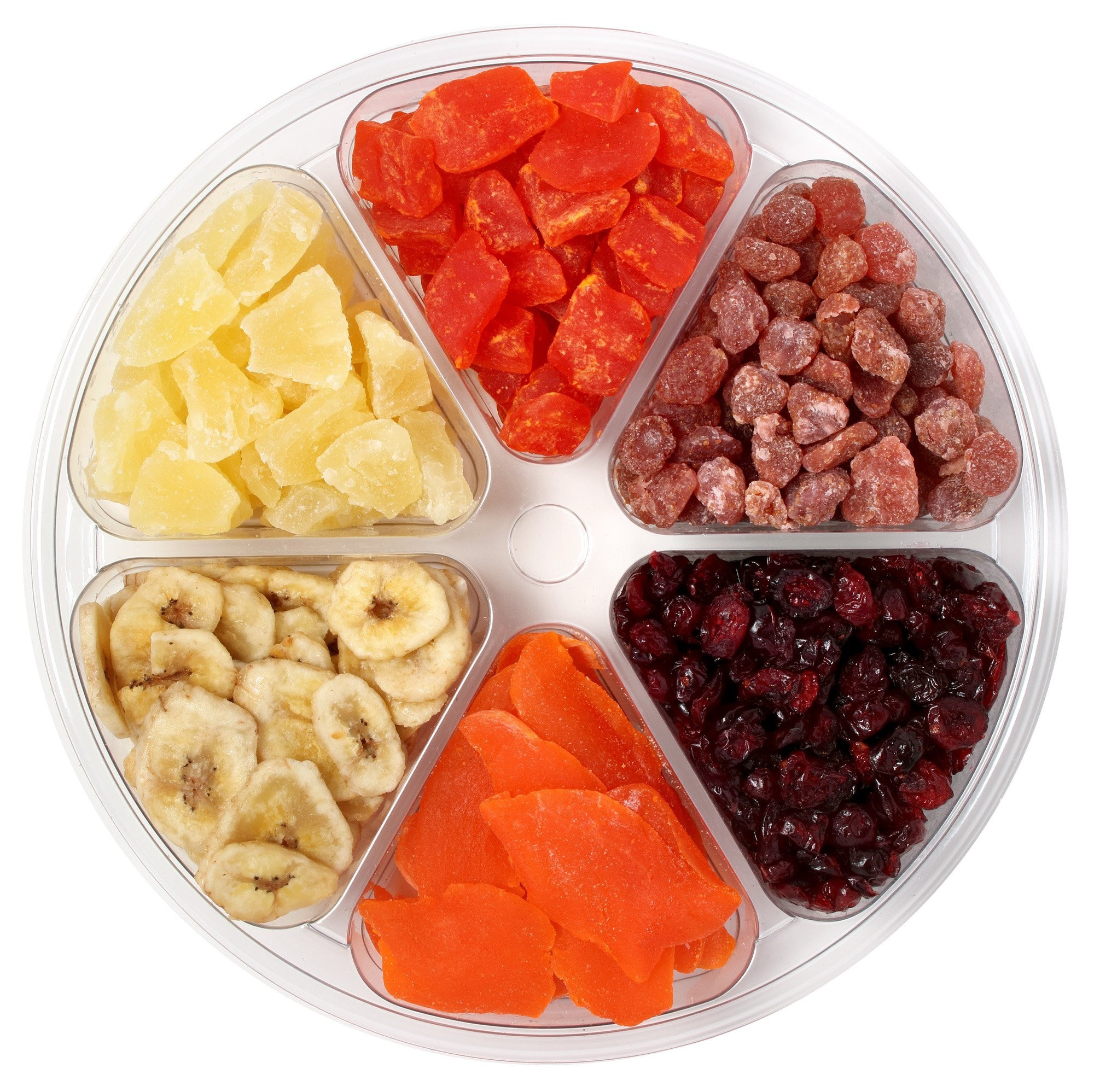 Sincerely Nuts Tropical Dried Mixed Fruit Tray   Kosher Certified Papaya Chunks, Pineapple Tidbits, Strawberries, Banana Chips, Mango Slices, and Cranberries   Supremely Fresh