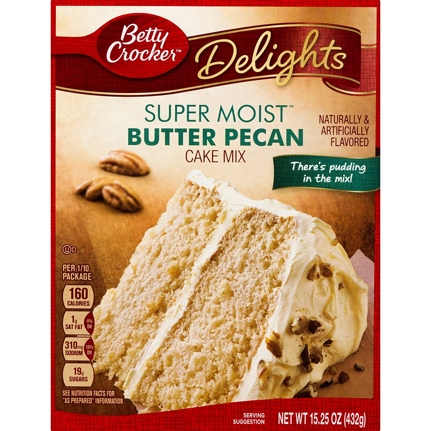 Amazon.com : Betty Crocker Super Moist Butter Pecan Cake Mix, Betty Crocker Whipped Buttercream Frosting, and 1.5oz Bag of Chopped Pecans to Top the Cake ...