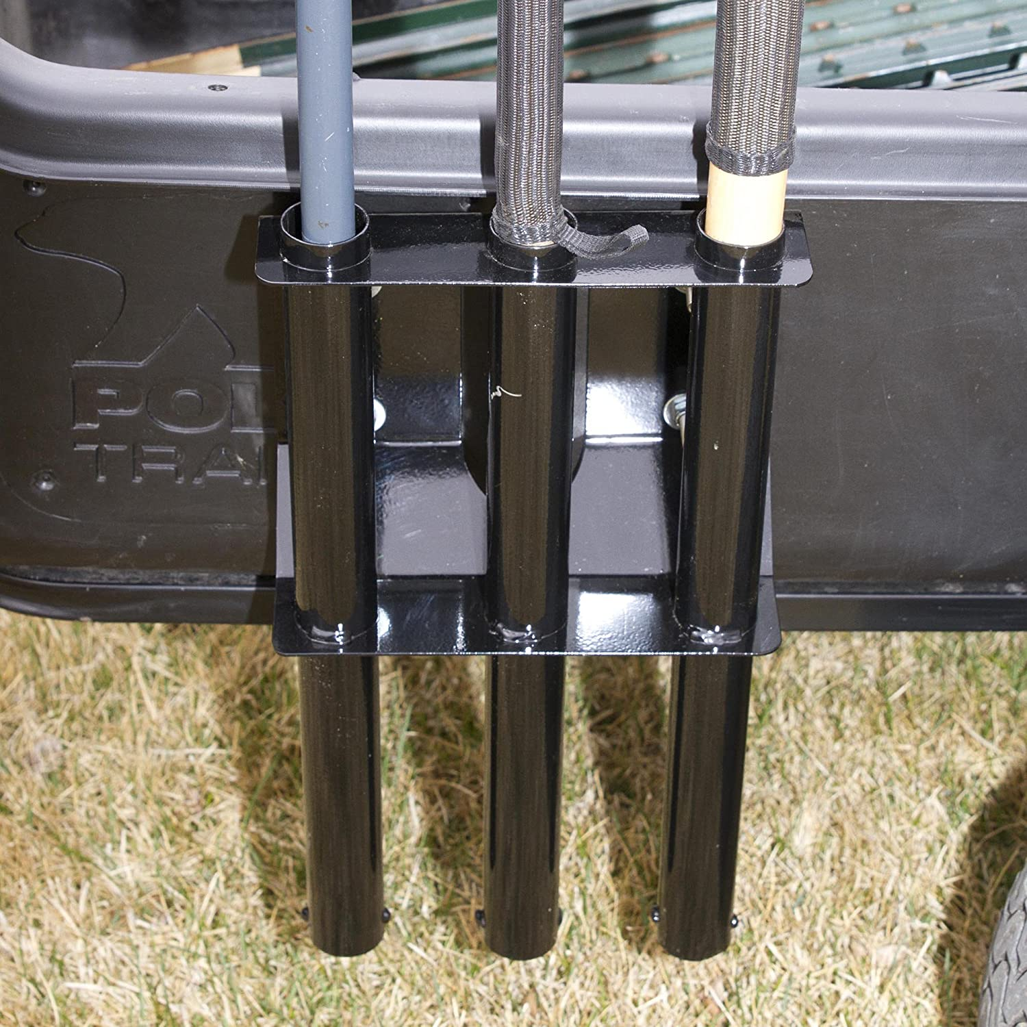 Black Polar Trailer Tow Behind Cart Tool Rack and Carts Easy to Install Durable Build Useful Accessory