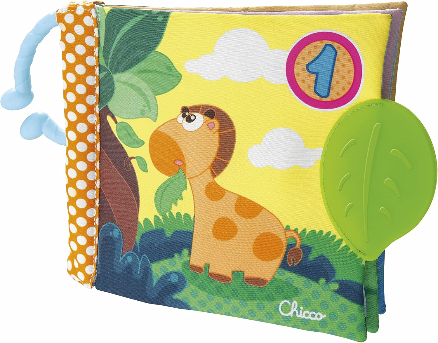 Chicco-00072376000000 Big & Small Juego Libro 1-2-3, Multicolor (00072376000000)