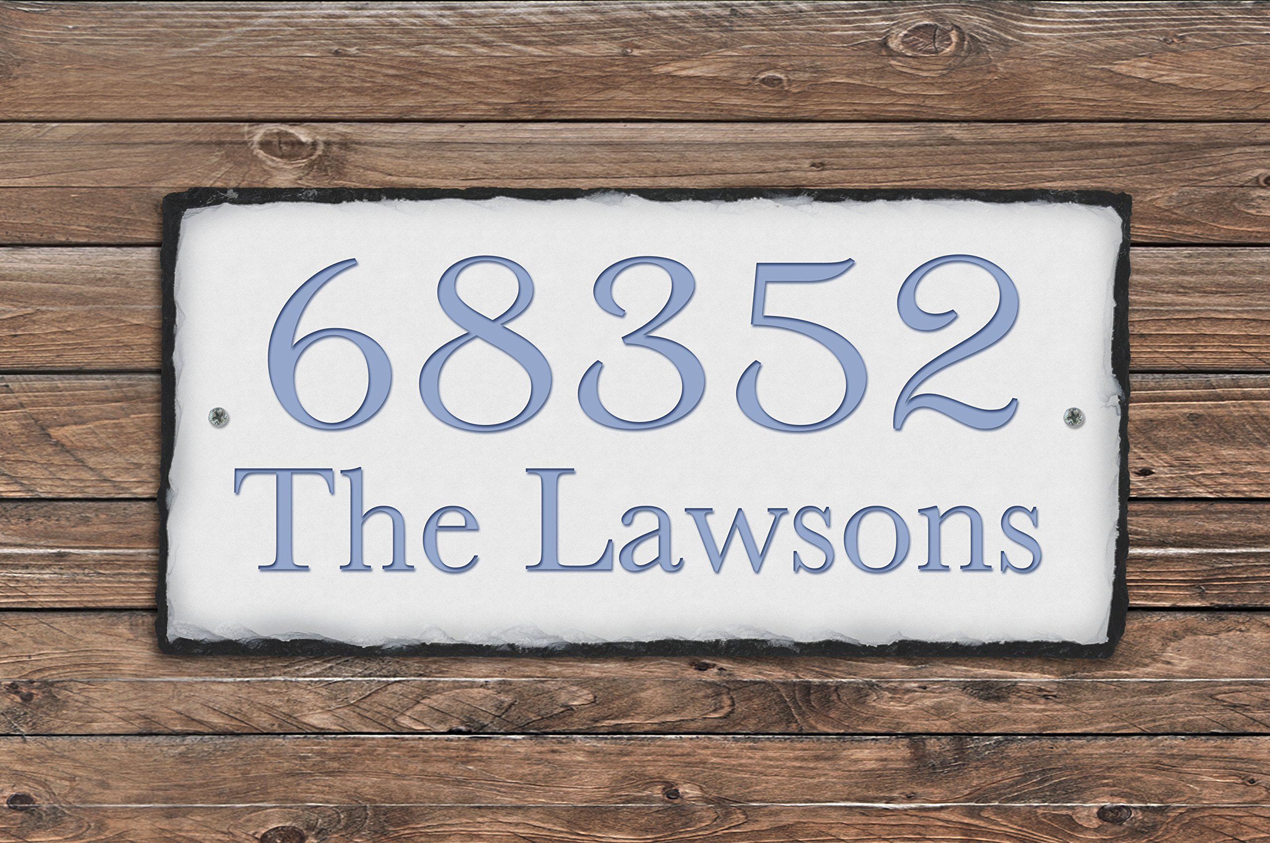 Sassy Squirrel Handcrafted and Personalized Slate House Number sign