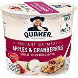 Quaker Instant Oatmeal Instant Oats Express, Apple Cranberry, 1.79oz Cup