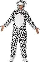 Smiffys Déguisement Unisexe Dalmatien, Combinaison à capuche, Party Animals, Serious Fun, Taille L, 31672