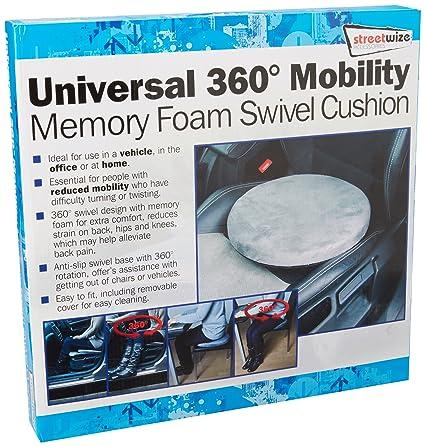 Streetwize SWSV2 – Cojín Giratorio con 4,5 cm de Espuma con Efecto Memoria