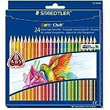 Staedtler - Noris Club 127 - Etui Carton 24 Crayons de Couleur Triangulaires Assortis