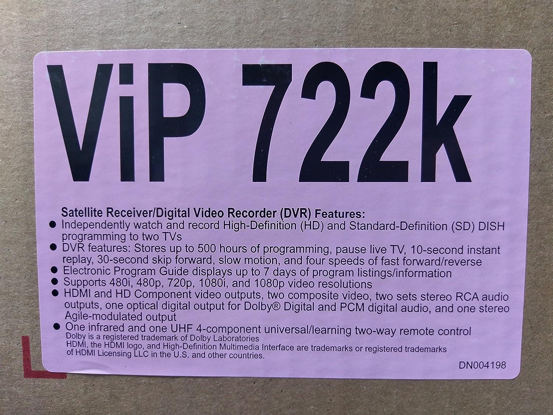 工場再生品ディッシュネットワークHD衛星受信機/ DVR vip722 K B005MJ5XQ0