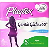 Playtex Gentle Glide Tampons with Triple Layer Protection, Super , Unscented - 36 Count