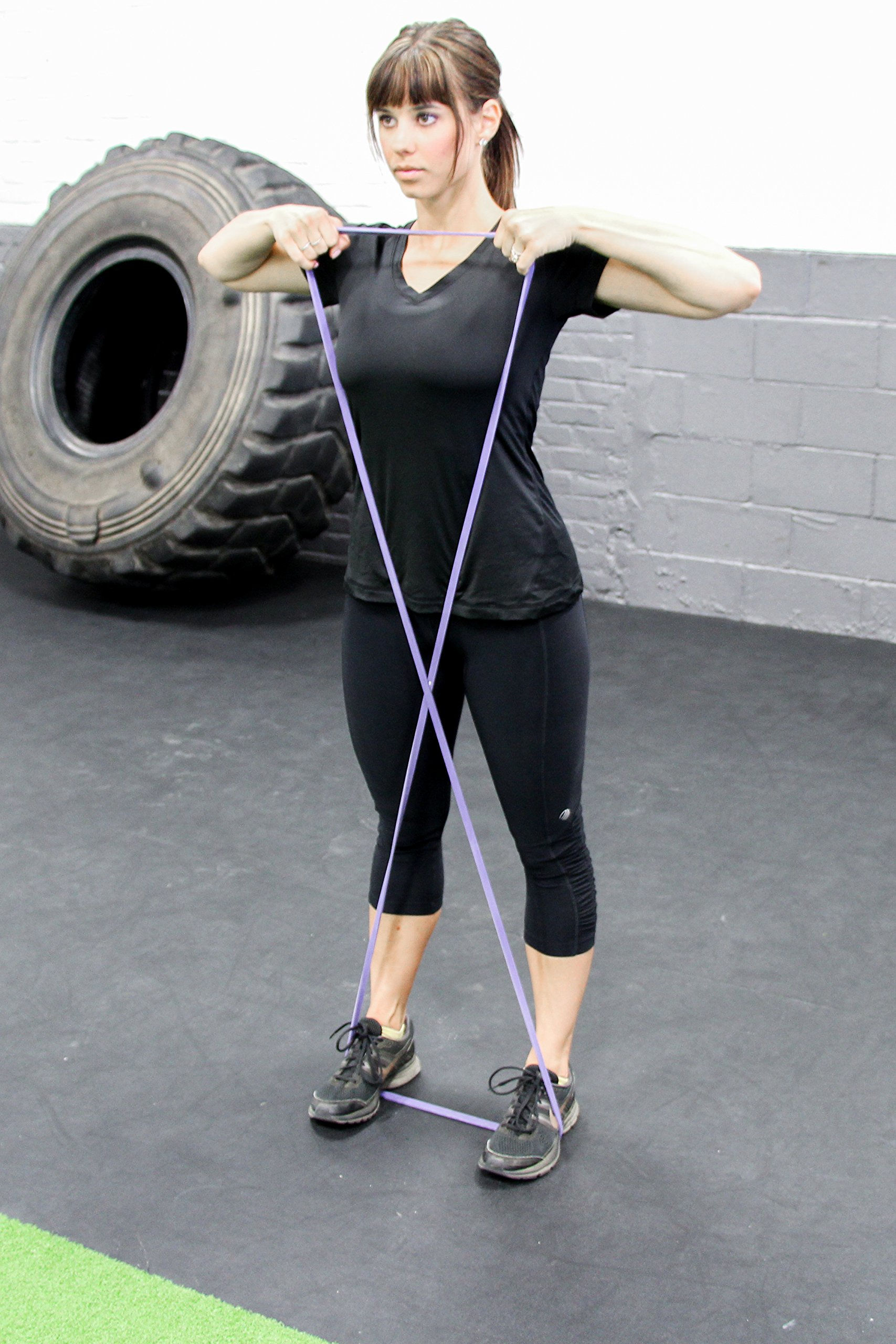 """Purple - #1 Pull-Up Band   Assisted Pull-up Loop Band   Resistance & Stretch Band Size: 1/2"""" x 4.5mm Resistance: 5-35lbs by Serious Steel Fitness (Image #9)"""