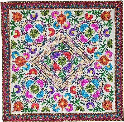 Purpledip Camino de mesa pequeño vintage indio finamente adornado ...