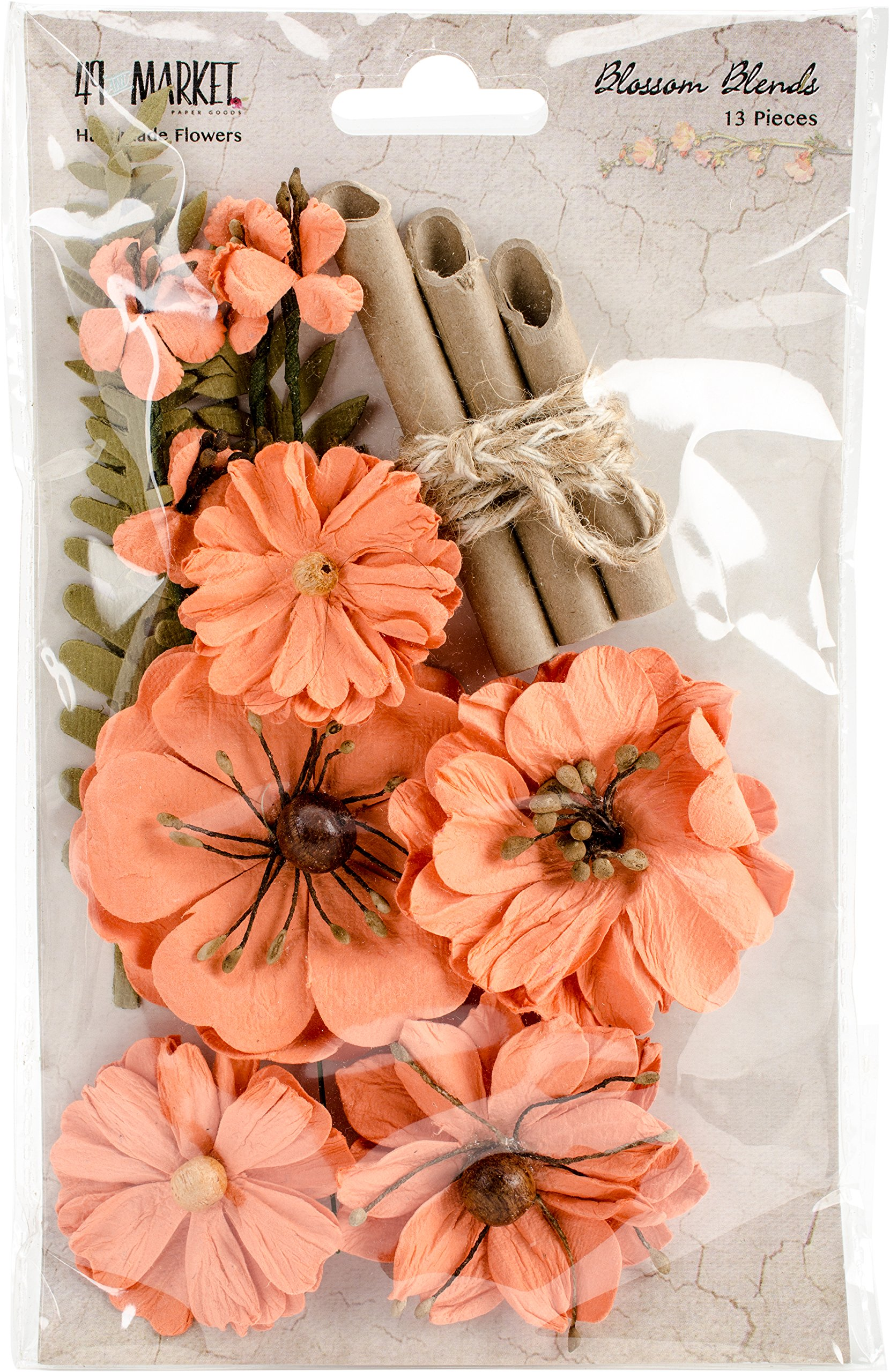 49 and Market BB-86219 Blossom Blends 2.5'' 13/Pkg-Cantaloupe