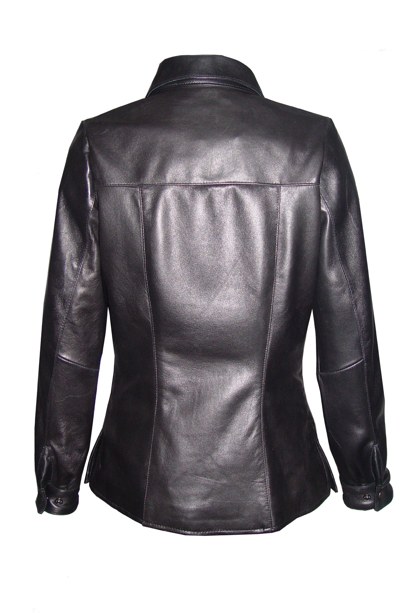 Nettailor 4081 Clean New Lambskin Genuine Leather Shirt Jacket Fine Soft Lamb by NETTAILOR (Image #3)