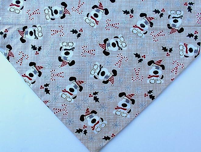 d3a6ab27e4ecc Amazon.com  Christmas Dog tan bandana over the collar slip on  Handmade