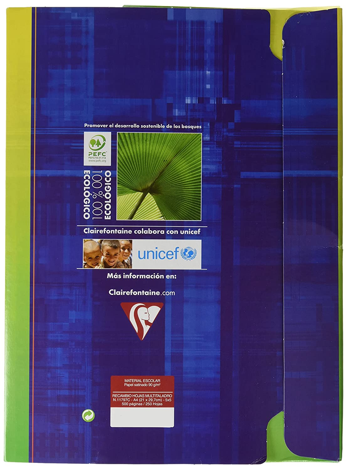 Amazon.com : Clairefontaine 11792C Folder Package For Ring ...