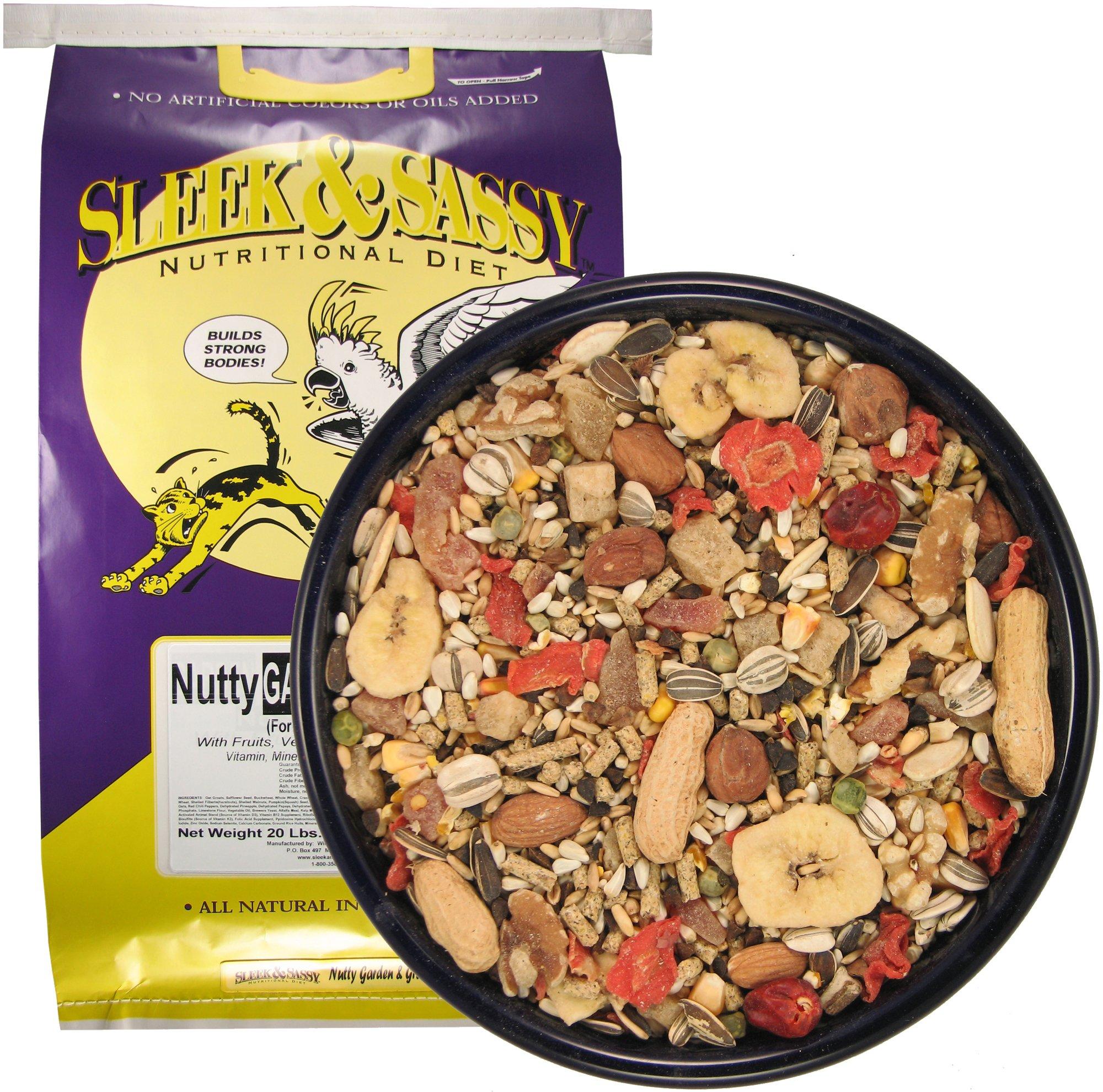 SLEEK & SASSY NUTRITIONAL DIET Nutty Garden & Grain Parrot Food (20 lbs.) by SLEEK & SASSY NUTRITIONAL DIET