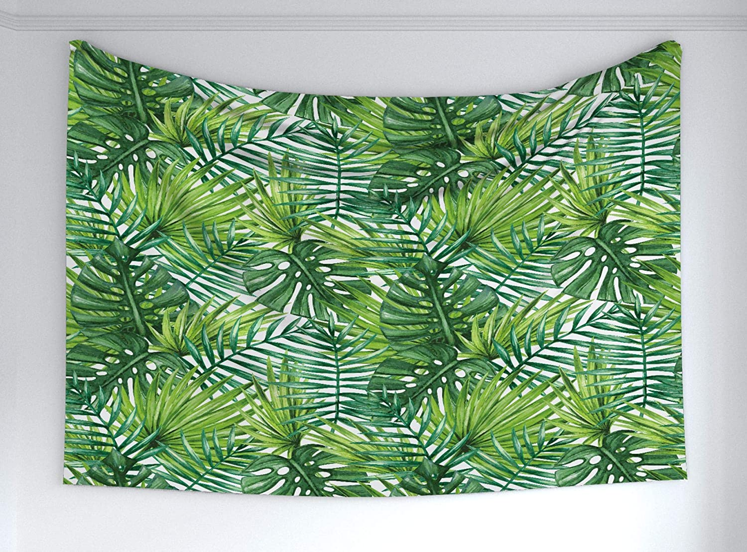 Amazon Com Ambesonne Leaf Tapestry Tropical Exotic Banana Forest Palm Tree Leaves Watercolor Design Image Fabric Wall Hanging Decor For Bedroom Living Room Dorm 60 X 40 Green Home Kitchen Tropical looking plants (exotic plants that make you believe you are in the tropics). ambesonne leaf tapestry tropical exotic banana forest palm tree leaves watercolor design image fabric wall hanging decor for bedroom living room