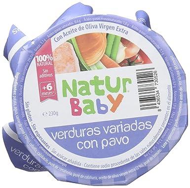 Natur Baby Puré Natural de Verdura con Pavo para Bebé - Paquete de 12 x 230