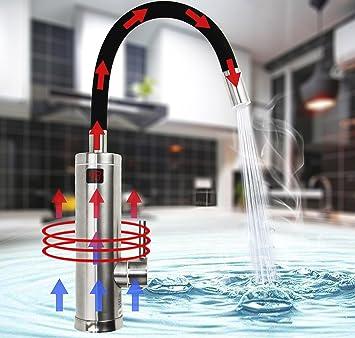 Elektrischer Wasserhahn Durchlauferhitzer   TopSer Sdr 18dc 3 Pro 360 Grad  Schwenkbare Heiß  Und Kalt Elektroheizung Warmwasserbereiter Mit ...