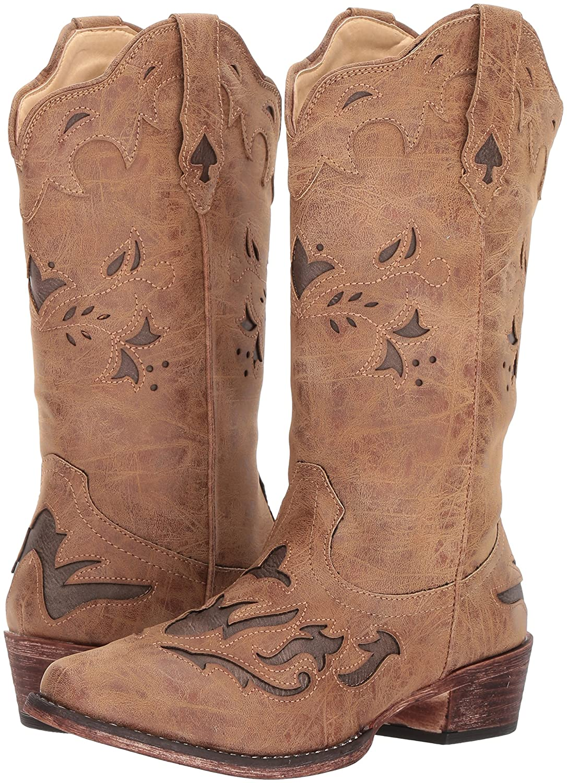 Roper Women's Spade Western Boot B074D3J512 6.5 B(M) US|Tan