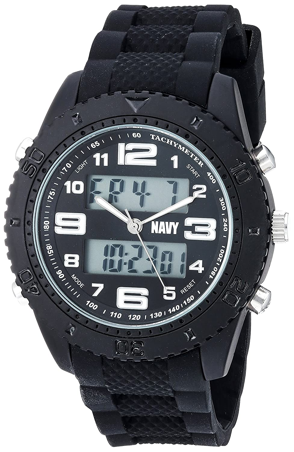 Wrist Armorメンズ米国海軍' ' Quartz Metal and Rubber Casual Watch, Color : Black (Model : 37400002 ) B01MYWY1D6