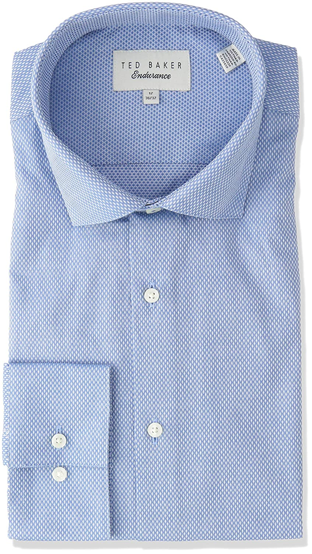 79b84d86a6328 Ted Baker Men s Endurance Slick Rick Shirt Blue 14.5-32 33  Amazon.co.uk   Clothing
