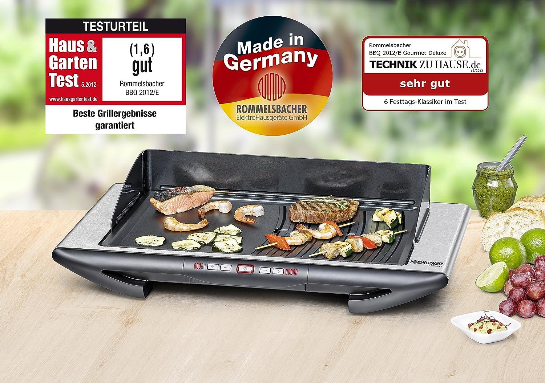 Rommelsbacher Elektrogrill Test : Amazon rommelsbacher bbq e tischgrill gourmet deluxe
