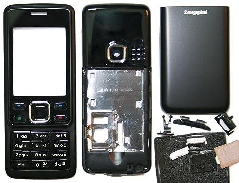 bay24   Cover para Nokia 6300 Full Cover Metal – Carcasa con teclado Matte, Negro