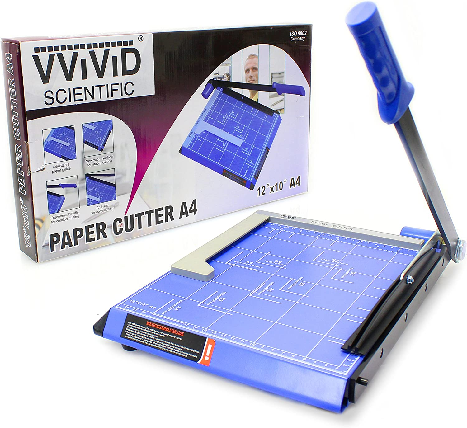 """VViViD Guillotine Style Bladeless Arm Paper Cutter (11.5"""" W/Magnetic Alignment Arm)"""