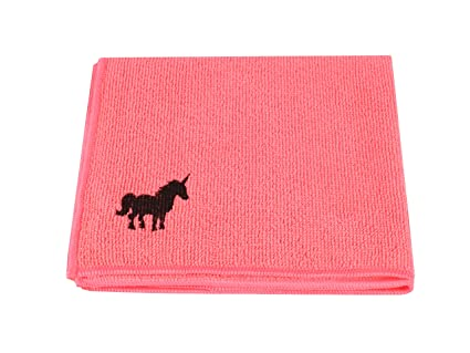 Paño de microfibra con diseño de unicornio, 38 x 38 cm, rosa, para