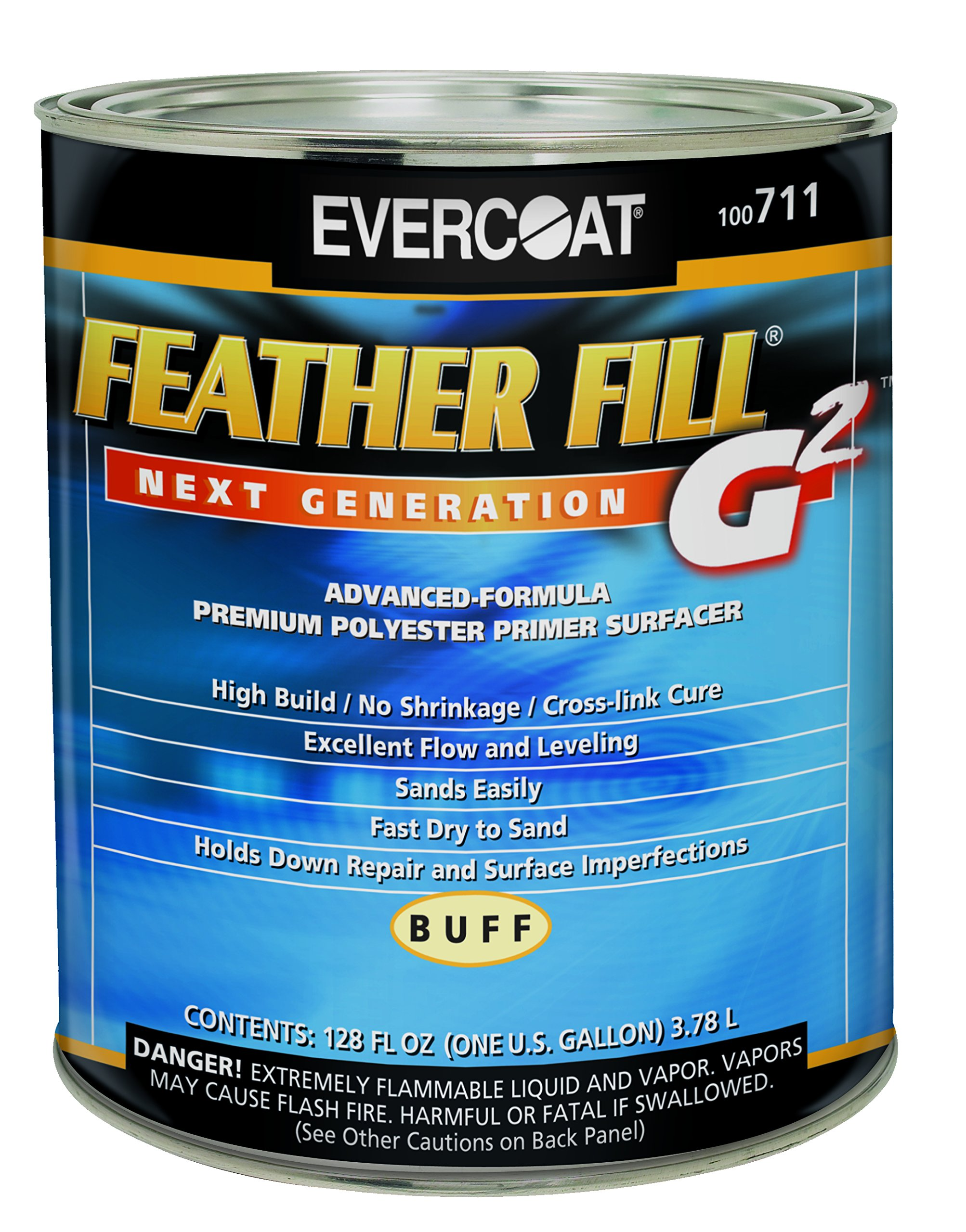 Evercoat 711 Feather Fill G2 Buff Polyester Primer Surfacer - 1 Gallon by Evercoat
