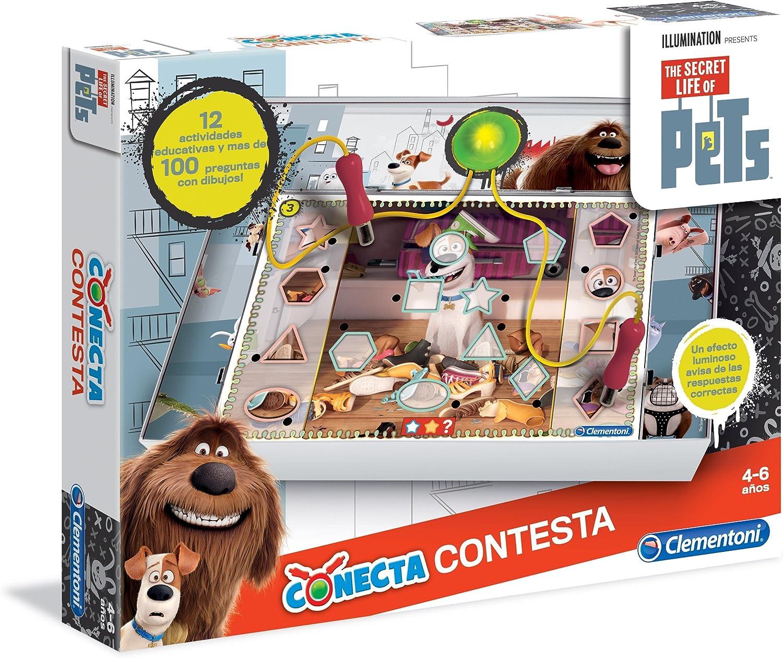 Clementoni - Conecta-Contesta Secret Life of Pets (55146.0): Amazon.es: Juguetes y juegos
