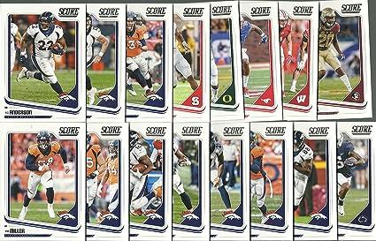 c0aa0478 2018 Panini Score Football Denver Broncos Team Set 16 Cards W ...