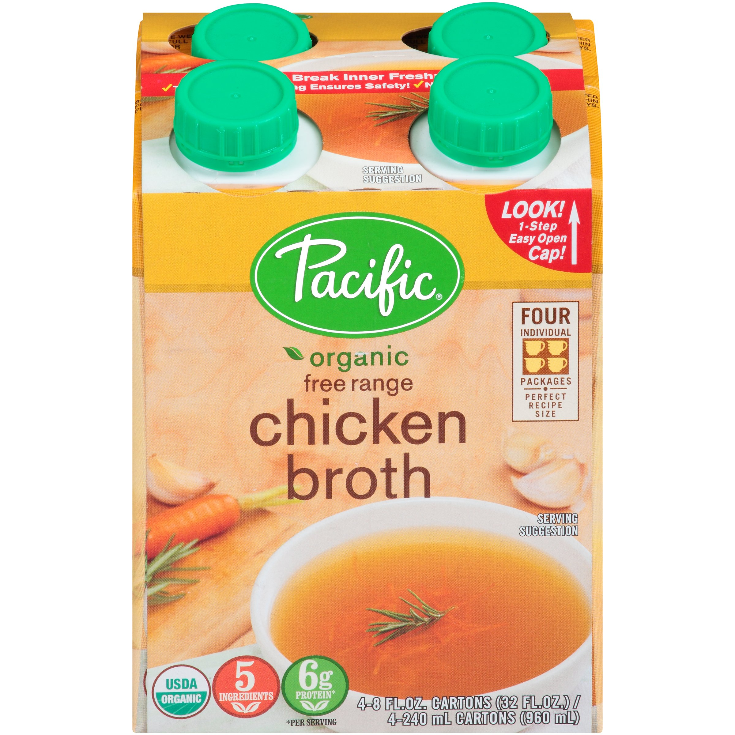 Pacific Natural Chicken Broth (6x4x8 Oz) by Pacific Natural Foods (Image #1)