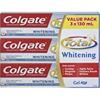 Colgate Total Toothpaste, Plus Whitening, 3 X 130 mL