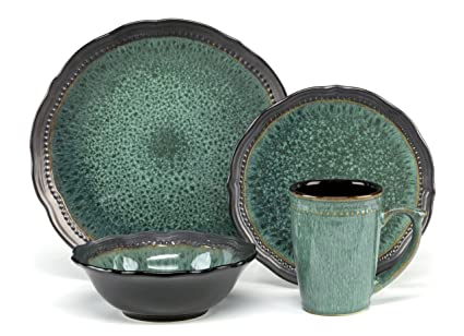Cuisinart CDST1-S4JEG Stoneware Jenna Green Collection 16-Piece Dinnerware Sets  sc 1 st  Amazon.com & Amazon.com: Cuisinart CDST1-S4JEG Stoneware Jenna Green Collection ...