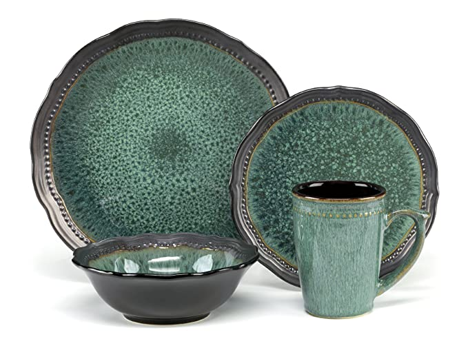 Amazon.com | Cuisinart CDST1-S4JEG Stoneware Jenna Green Collection ...