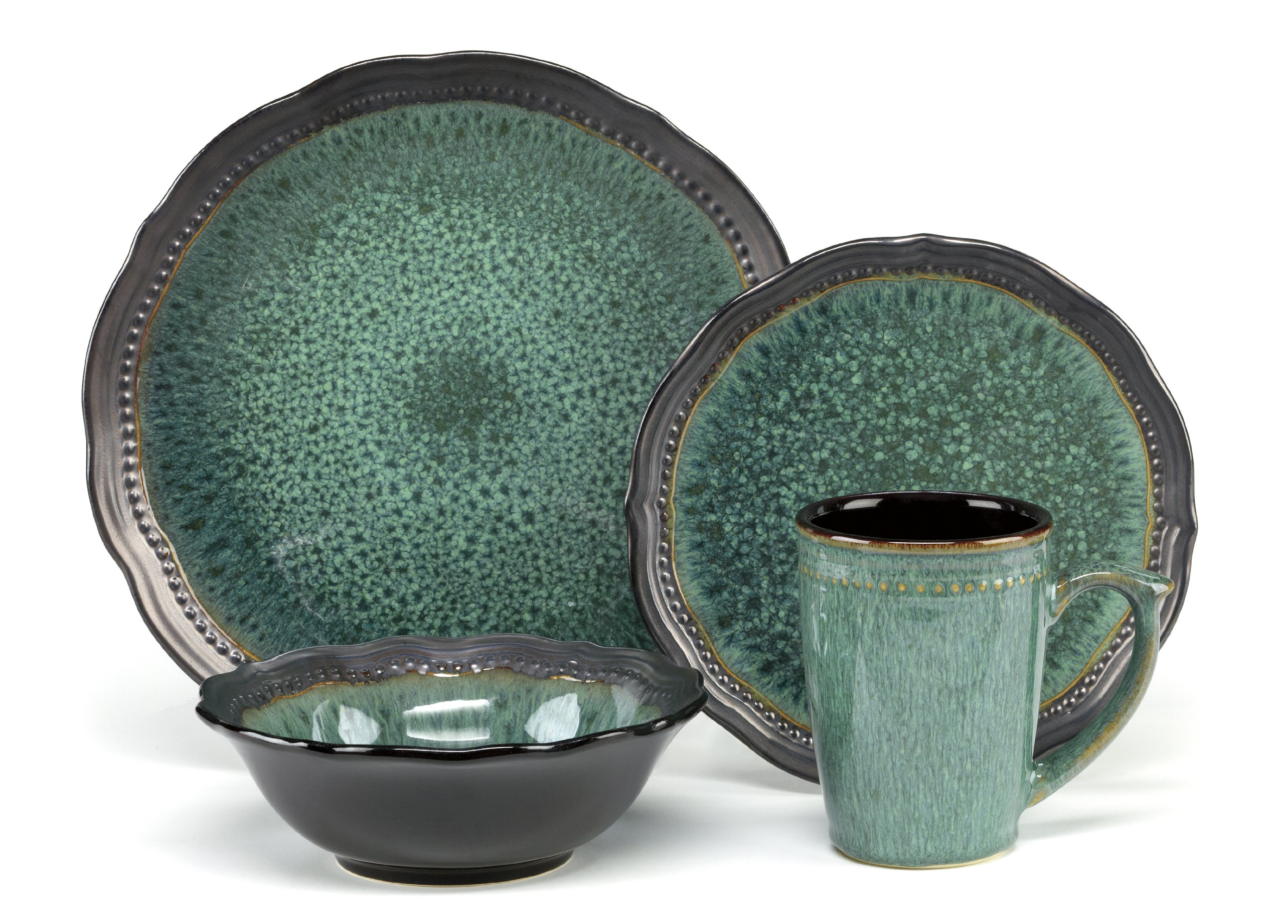 0086279073938  sc 1 st  eBay & Cuisinart CDST1-S4JEG Stoneware Jenna Green Collection 16-Piece ...